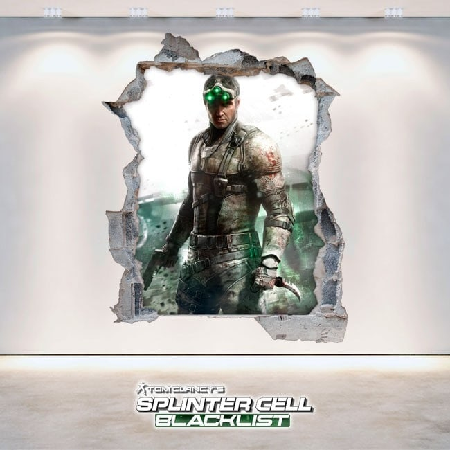Splinter Cell Blacklist vinile decorativo 3D Tom Clancy