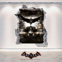 Vinile decorativo 3D Batman Arkham Knight Italian 6239