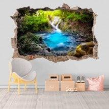 Vinile decorativa cascate e pozzi natura 3D
