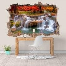 Adesivi e vynils natura cascate 3D