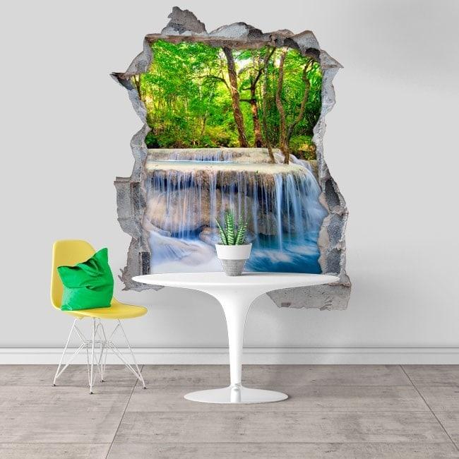 Cascate di vinile decorativo 3D in natura