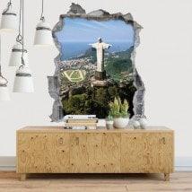 Vinile decorativo 3D Cristo Redentore