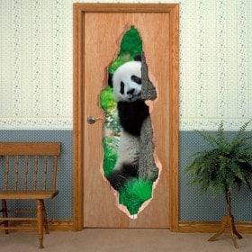 Orso di vinile porte Panda 3D