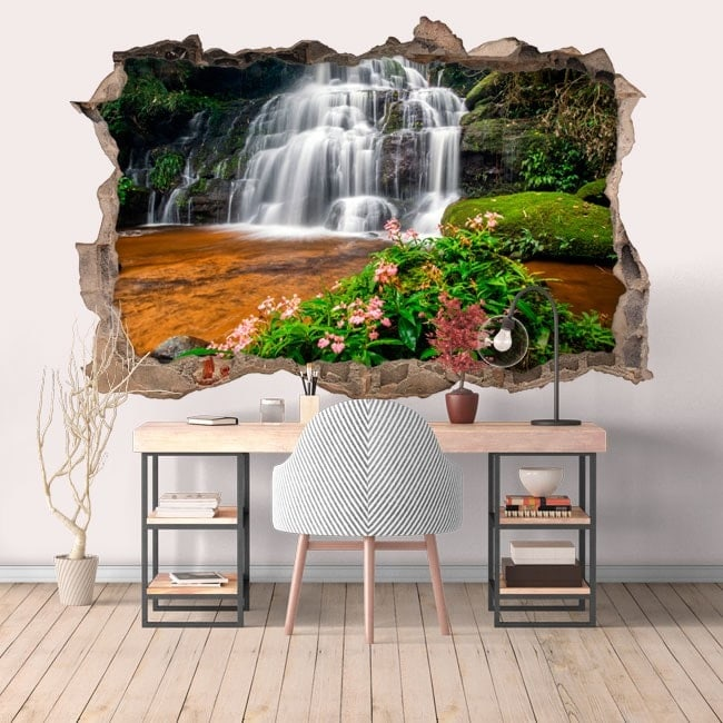 Vinile decorativo 3D cascate e natura