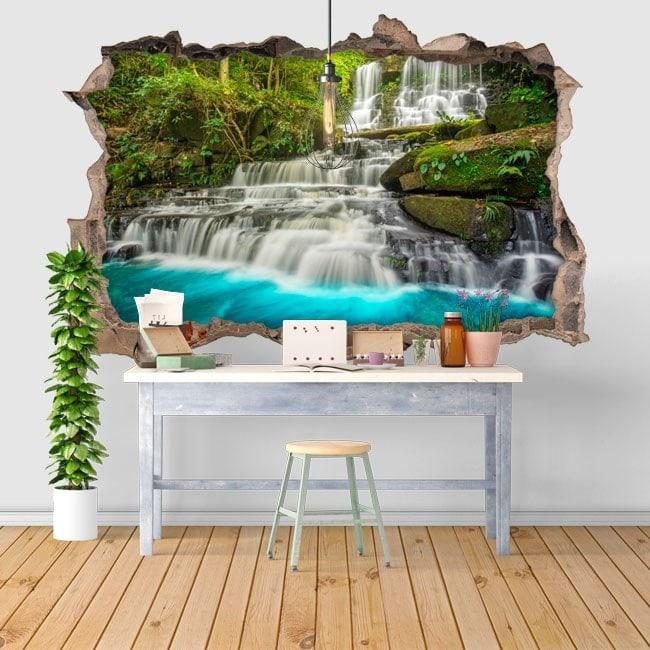 Cascate di vinile decorativi in natura 3D