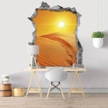 Tramonto nel deserto 3D vinile decorativo