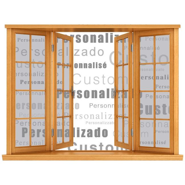 Personalizzato finestre in vinile 3D