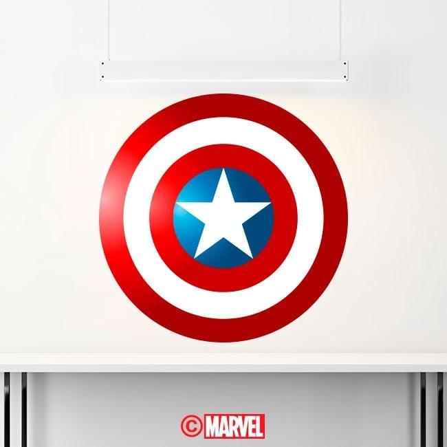 Scudo di vinile decorativo Capitan America