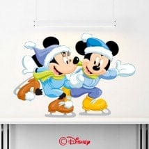 Vinile Mickey e Minnie pattinaggio
