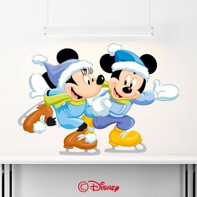 Vinile Mickey e Minnie pattinaggio