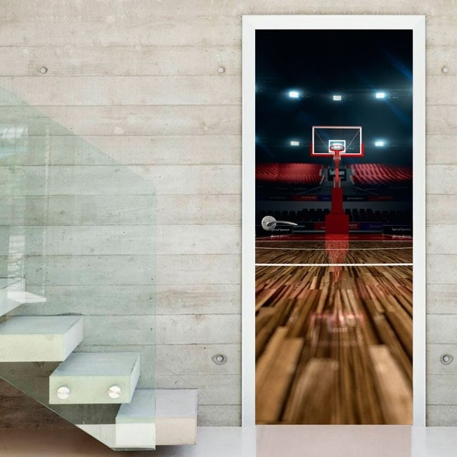 Basket di Corte porte vinile decorativo