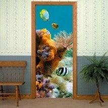 Mondo marino di porte di vinile decorativo