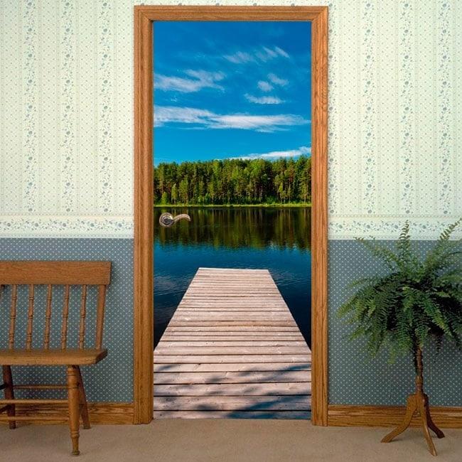 Ponte di Gates al lago per vinili