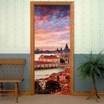 Vinile decorativo porte Canal Venezia