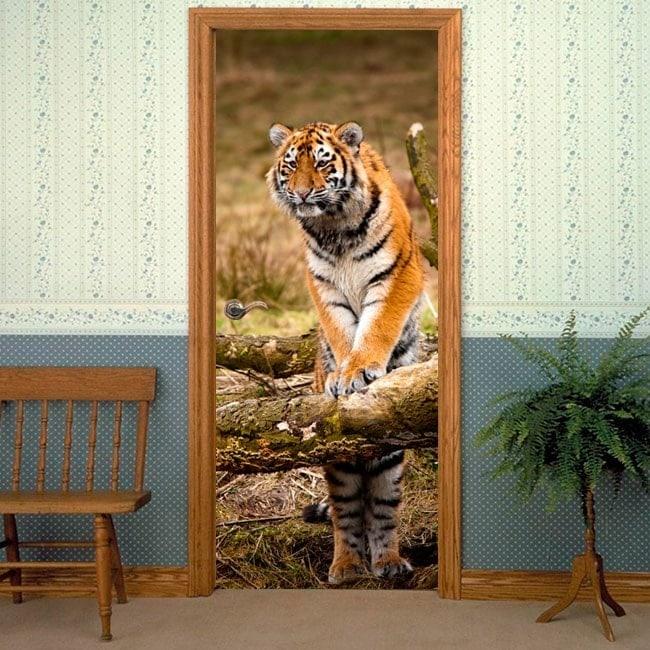 Vinile decorativo porte tigre siberiana