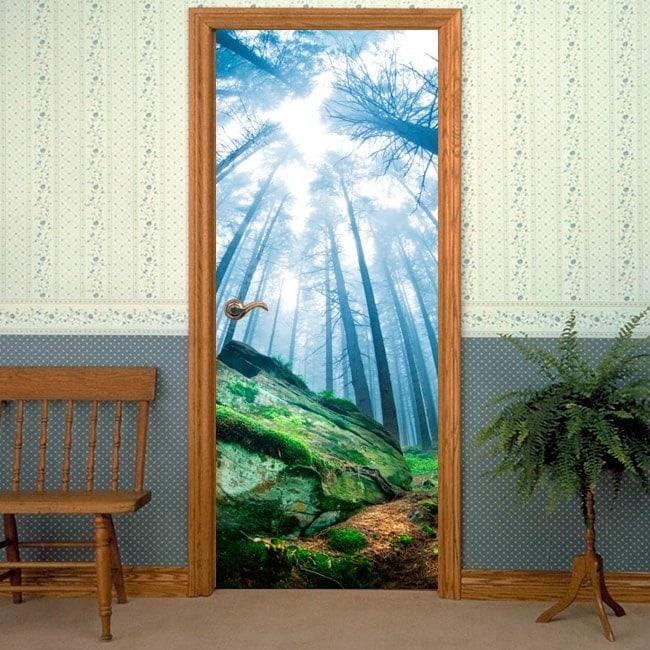 Foresta magica di porte di vinile decorativo