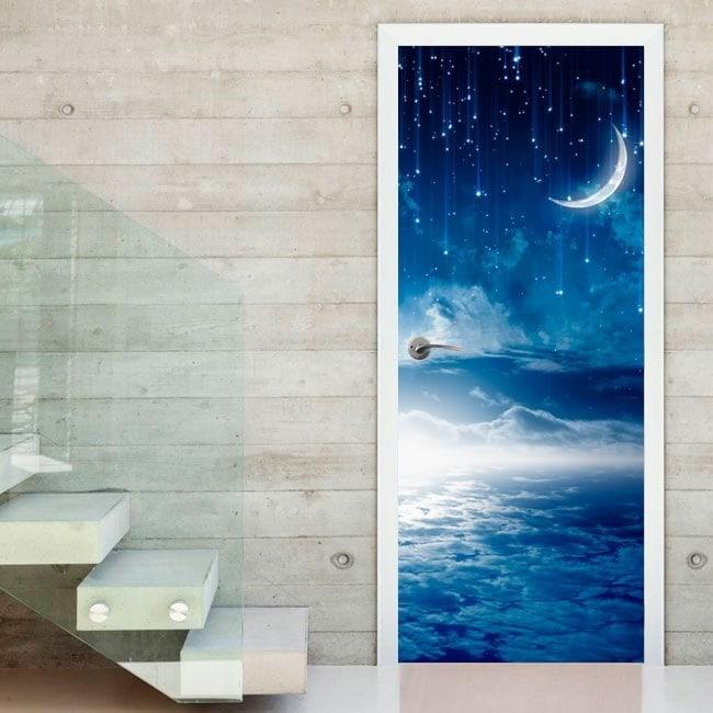 Vinile porte notte luna e stelle