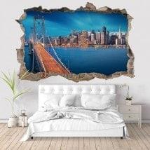 Ponte di 3D vinile San Francisco Bay