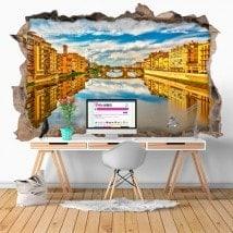Vinile 3D fiume Arno Firenze Italia