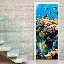 Porta adesivi e mondo marino in vinile