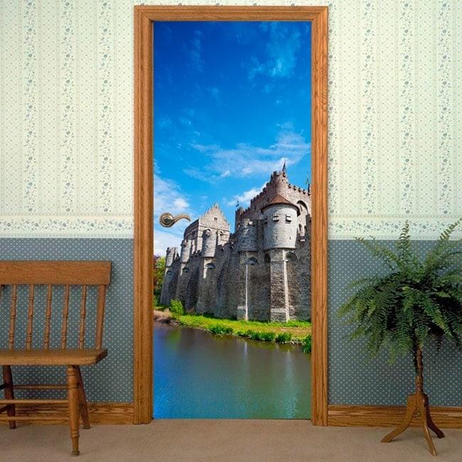 Porte di vinile decorativo Castello conta di Gand