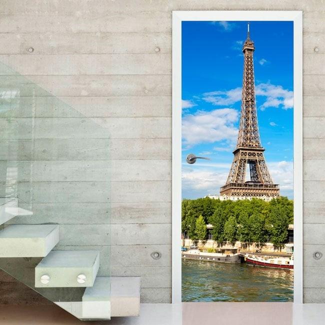 Vinile porte Torre Eiffel Parigi