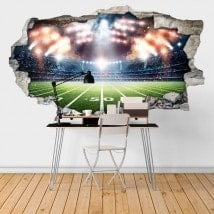 Parete 3D rotto di stadio di calcio di vinile Italian 6448