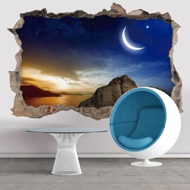 Tramonto Magic Hole 3D vinili parete
