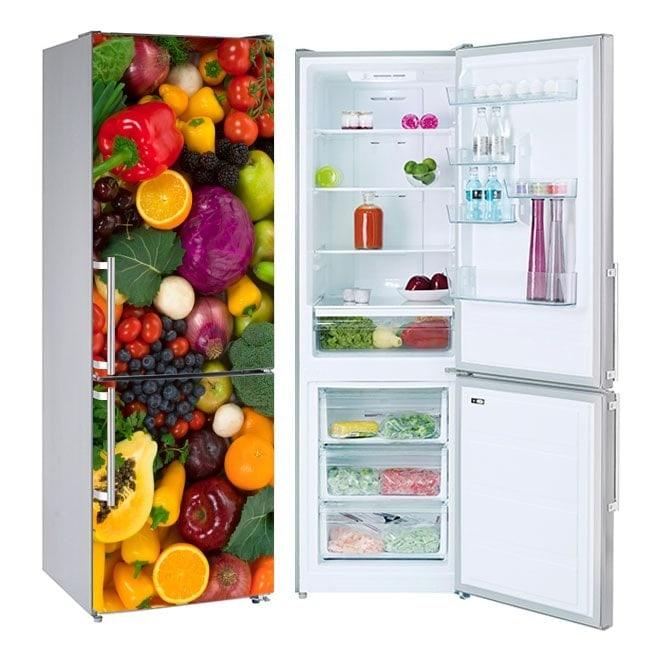 Sticker frigoriferi ortaggi e frutta