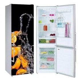 Decalcomanie frigoriferi Spruzzata arancione