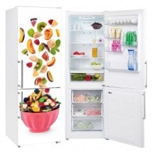 Adesivi per frigoriferi con cesto di frutta