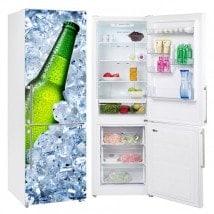 Adesivi in vinile per frigoriferi birra ghiacciata