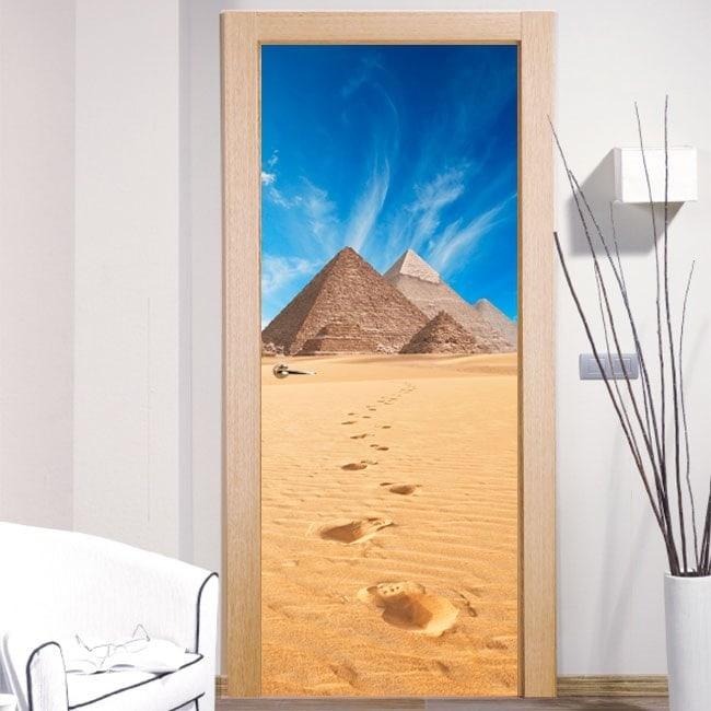 Adesivi da parete decorativi piramidi di giza - Adesivi decorativi per porte ...