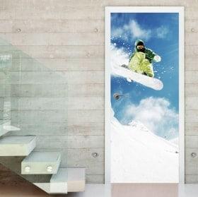 Vinili per porte snowboard
