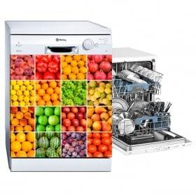 Adesivi per lavastoviglie collage frutta e verdura