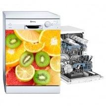 Vinili lavastoviglie frutta collage