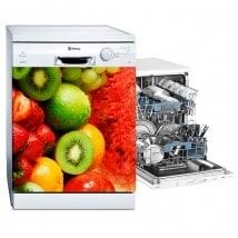 Decalcomanie collage di frutta per lavastoviglie