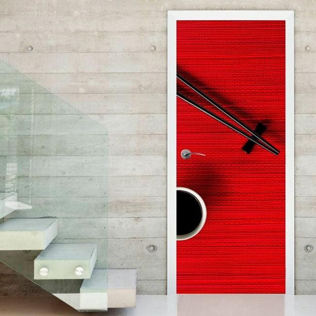 porte in vinile decorative bacchette. Black Bedroom Furniture Sets. Home Design Ideas