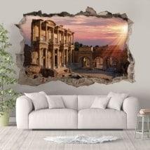 Adesivi 3D Biblioteca di Celsus Turchia