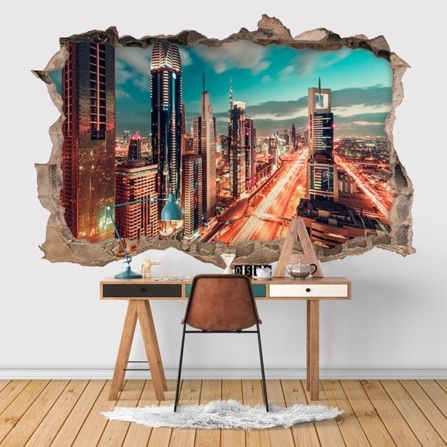 Adesivi murali 3d citt di dubai for Adesivi murali 3d