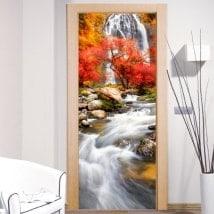 Vinile porta cascata natura