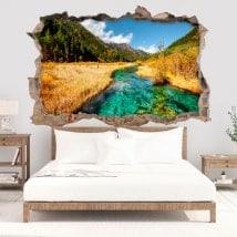 Vinili decorativi 3D fiume in montagna