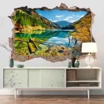 Adesivi 3D Bamboo Lake Canada