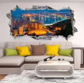 Vinile 3D panoramica di Málaga Spagna
