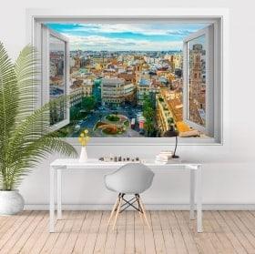 Finestre in vinile 3D Valencia Piazza della regina