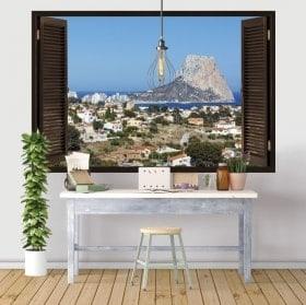 Finestre in vinile 3D Rock di Gibilterra