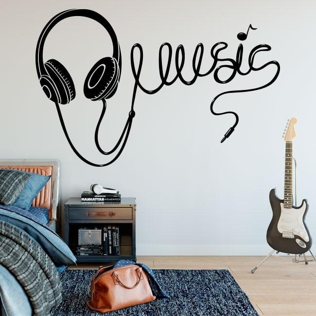 Adesivi cuffie musicali