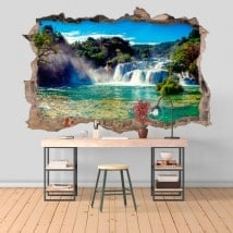 3D adesivi cascate parco nazionale di Krka