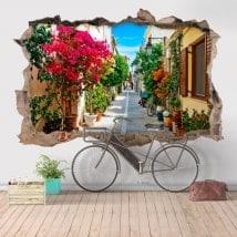 Adesivi da parete 3D Rétino città della Grecia
