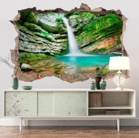 Adesivi murali 3D cascata in Slovenia